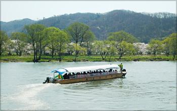 北上川渡し舟