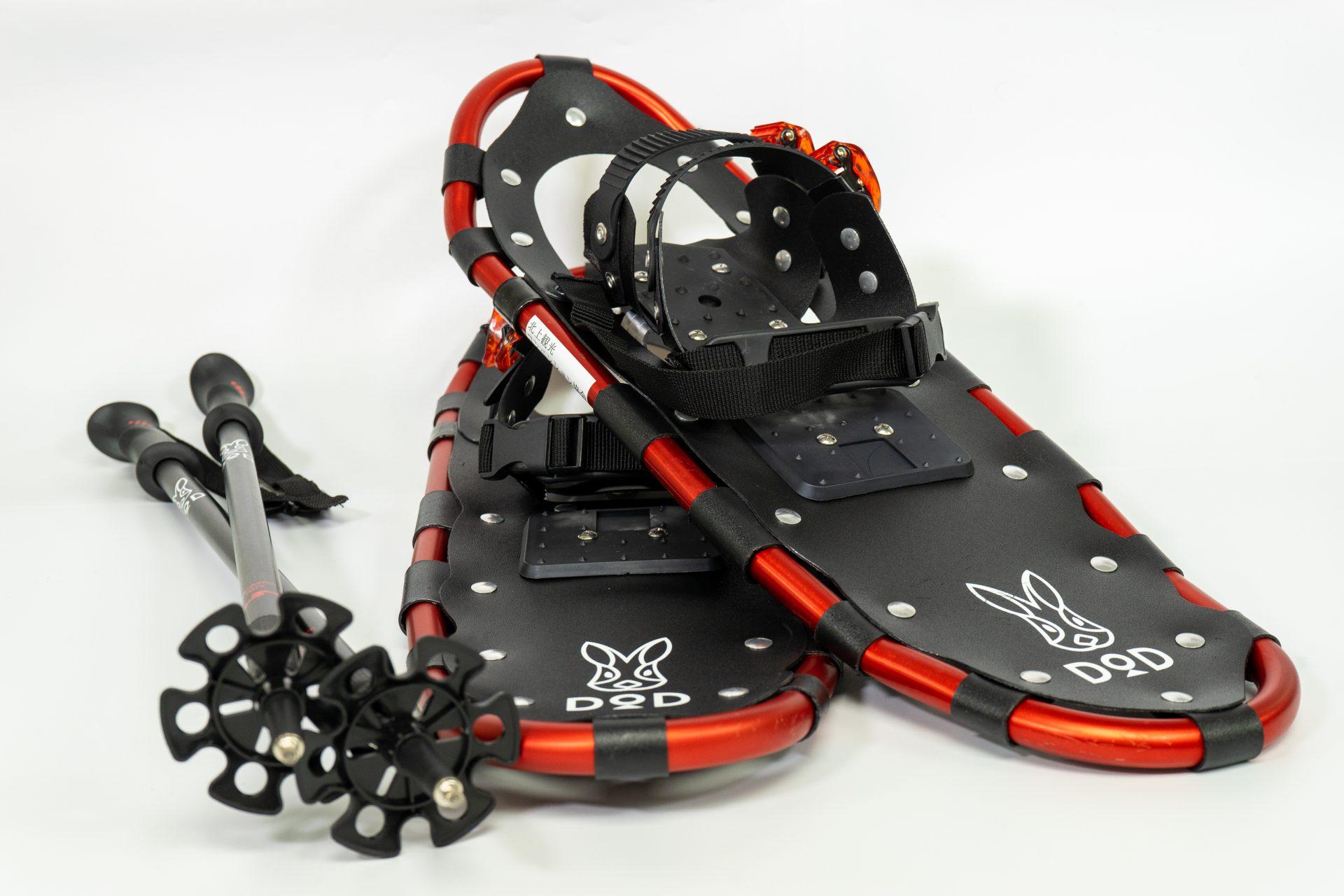 """スノーシューは、雪の上を歩くための道具で、スノーブーツや、長靴に装着する""""かんじき""""のようなもので""""西洋かんじき""""とも呼ばれています。 ..."""