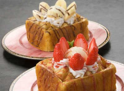 チロルおすすめ人気NO.1ハニートースト苺・チョコバナナ画像