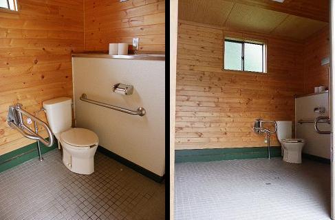 和賀川グリーンパーク テニスコート敷地内障がい者用トイレ