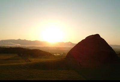 樺山歴史の広場から見た夕陽