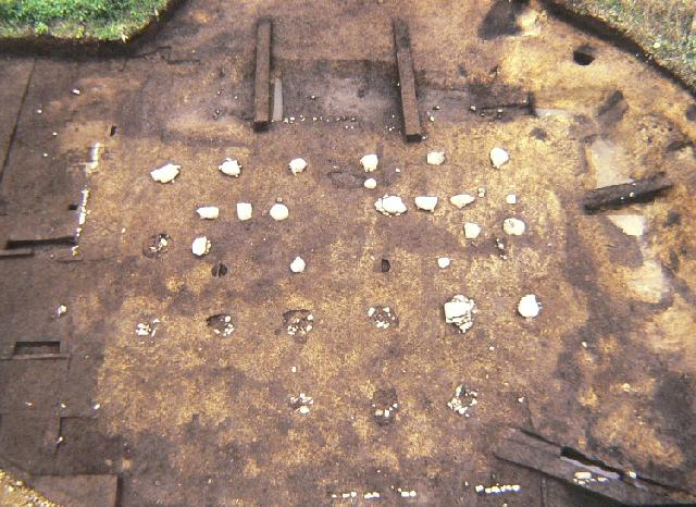 横町廃寺跡の礎石